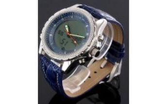 Pánské hodinky - zobrazují čas digitálně a analogově - stopky, alarm, světlo, datum a čas to vše za 699kč místo 1850kč p614