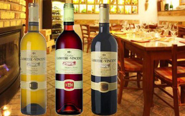289 Kč za JEDNU láhev bílého, červeného nebo růžového Chateau Lamothe Vincent Bordeaux a italský sýr Asiago s omáčkou a slevou 57 %.