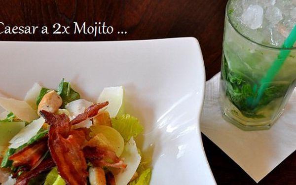 Letní osvěžující bomba! 2 prvotřídní saláty Caesar a 2x Mojito se slevou 54%!