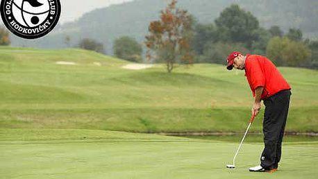 599 Kč místo 1400 Kč za golfovou hodinu pro DVA v nejlepším tréninkovém areálu v Praze - Hodkovičkách s profesionálním trenérem Davidem Tešným. Naučte se hrát golf s 57% slevou!