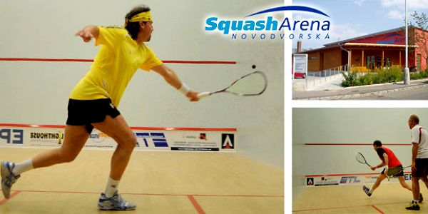 Letní pronájem klimatizovaného squashového kurtu ve Squash Areně se slevou až 57 %.