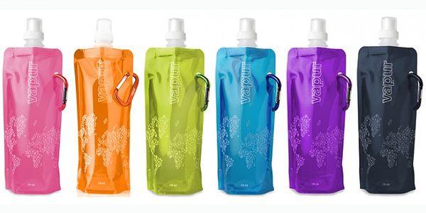 Hit tohoto léta! Pouhých 99 Kč za originální skládací láhev Vapur na letní procházky, lenošení u vody či cestování po světě! Super sleva 50 %!