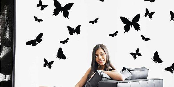 290 Kč za samolepky na zeď - Motýlí ráj obsahující 70 ks v hodnotě 590 Kč