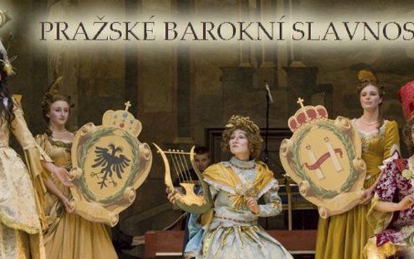 375 Kč za vstupenku na jakékoli představení Pražských barokních slavností vhodnotě 750 Kč! Unikátní barokní opery, výpravné kostýmy a zážitek roku se slevou 50 %.