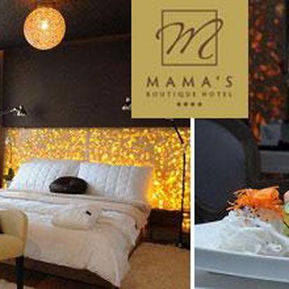 Užij si nezapomenutelný luxusní víkend v srdci Bratislavy s 49% slevou! Za 112 Euro Tě čeká 3 denní pobyt v luxusním ****Hotelu Mama´s pro 2 osoby se snídaní a wellnes!