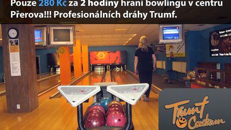 Pouze 280 Kč za 2 hodiny hraní bowlingu v centru v Přerova!!! Profesionálních dráhy Trumf.