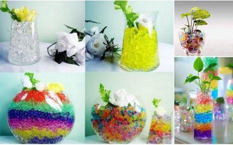 Zakupte si skvělou vychytávku - ABSORPČNÍ KULIČKY! Získejte 53% slevu na dekorativní výrobek nahrazující tradiční vodu ve vázách s živou řezanou květinou nebo vodní rostlinou! Vhodné také jako dekor do vašeho bytu!