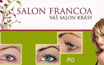 Trvalá na řasy (včetně barvení) s 50% slevou v Salónu Francoa: stovky spokojených klientek s touto novou metodou!