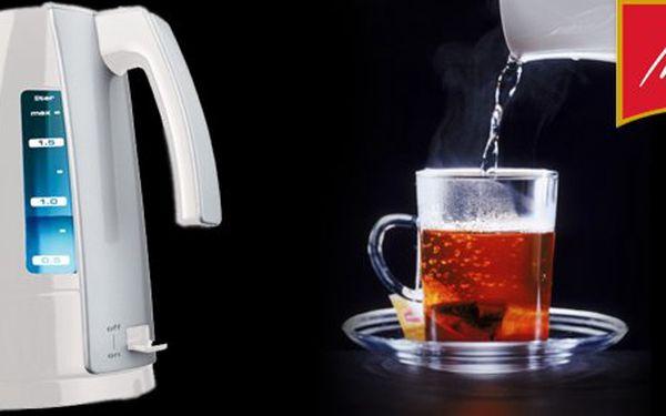 599 Kč za rychlovarnou konvici Melitta Aqua Look Vario s regulací ohřevu vody a skrytou spirálou. Bílý klenot ve vaší kuchyni s 40% slevou.