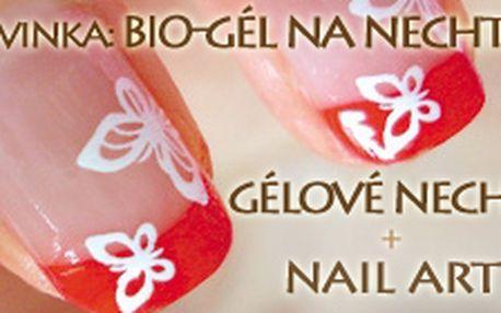 Gélové nechty alebo spevnenie vlastných nechtov bio-gélom + nail art