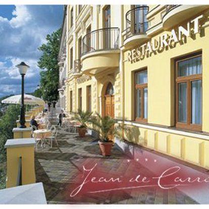 3760 Kč za třídenní pobyt PRO DVA v Karlových Varech v hotelu Jean de Carro. Snídaně, masáž, rašelinový zábal i vstup do Thermária se slevou 50 %.