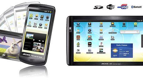 Sledujte filmy, poslouchejte hudbu, surfujte! Archos 43 16GB. Nový dotykový tablet se systémem Android za výprodejovou cenu!