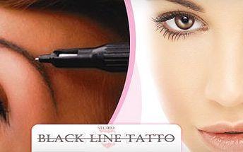 1700 Kč za permanentní make-up - obočí nebo kontura rtů v hodnotě 3500 Kč
