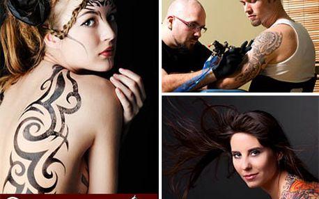 Dech beroucí tetování šité na míru Vaší osobnosti. Poukaz na tetování v hodnotě 1 000 Kč se slevou 50 %.