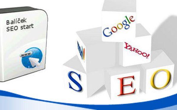 Buďte na internetu vidět! Startovací balíček reklamy na internetu pro Váš web. Letní akce – neodolatelná sleva 75%! Připravili jsme pro Vás speciální startovací balíček obsahující absolutní minimum pro správné prezentování ve vyhledávačích jako je Seznam či Google!