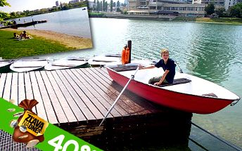 Romantické člnkovanie na Štrkoveckom jazere v Bratislave. Zažijete relax, šport aj zábavu. Hodinové člnkovanie len za 3 eurá!