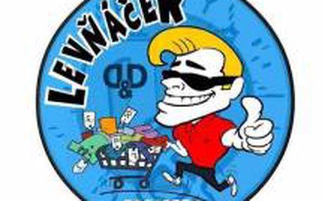 200Kč poukázka se slevou 50% do sítě obchodů D&D Levňáček !!!