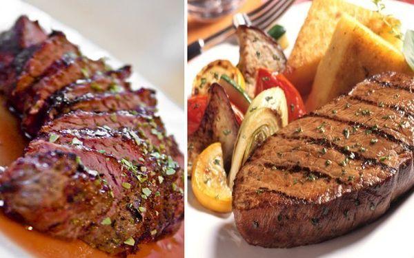 300 g RUMPSTEAK z argentinského býčka (plemeno ANGUS) včetně přílohy dle Vašeho výběru jen za 165 Kč v restauraci U Kroužků. Sleva 61%!