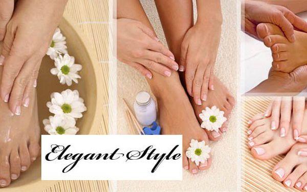 Jen 129 Kč za báječnou WELLNESS pedikúru. Pedikúra, lázeň, peeling, zábal a relaxační masáž + 30% slevou na gelové nehty na nohách. Pro Vaše nohy jen to nejlepší v prestižním studiu ELEGANT STYLE.