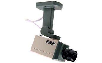 Atrapa bezpečnostní kamery se senzorem pohybu a automatickým otáčením jen za 299 Kč! Otáčí se, když zpozoruje pohyb!