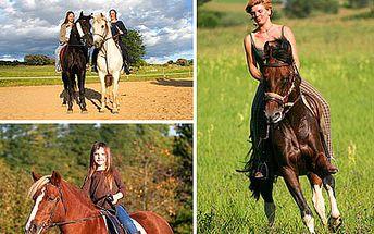 Nejkrásnější pohled je pohled z koňského sedla. Vyjeďte si do přírody a pociťte koňskou sílu se slevou 50 %.