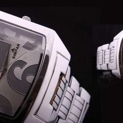 Pánské ocelové hodinky značky SIMPAR s 83 % slevou! Světová novinka mezi fashion značkami, zaměřující se především na hodinky a módní doplňky.