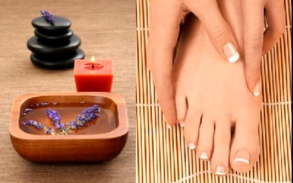 Luxusní aromaterapie ! LEVANDULOVÁ PEDIKÚRA včetně masky na nohy za pouhých 250,-Kč !