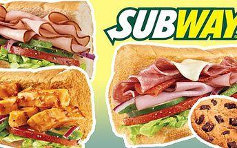 99 Kč za DVA libovolné 15cm sendviče a DVĚ cookies v dálniční restauraci Subway Rohlenka. Ideální občerstvení na cesty až s 51% slevou.