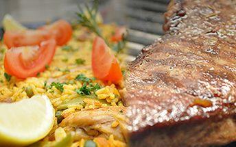 Jakýkoliv gril (Parilla) nebo hlavní chod (Plato Principal) za 50% v restauraci El Arriero