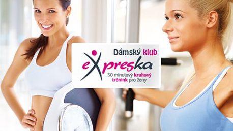 Nemáte na cvičení celé měsíce? 30minutový trénink vás dostane do kondice. Stačí 30 minut a kila letí dolů! Přijďte a vyzkoušejte 1 měsíc neomezeného cvičení v posilovně EXPRESKA včetně členského poplatku se slevou 50 %.