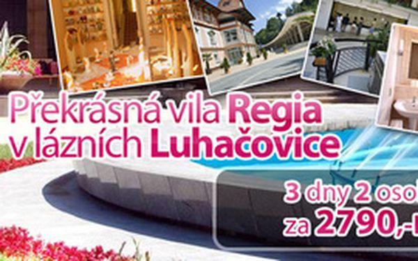 Relaxace pro 2 osoby na 3 dny v překrásné vile Regia v lázních Luhačovice, načerpejte nové síly v největších moravských lázních