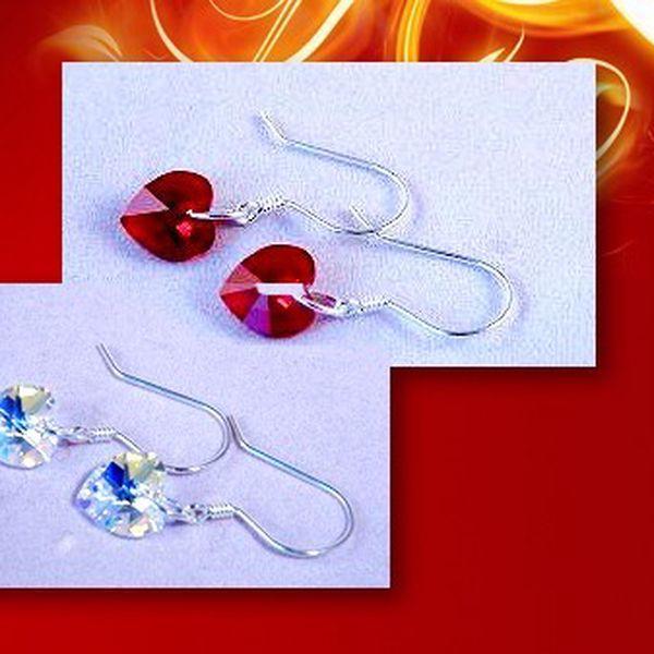 STŘÍBRNÉ NÁUŠNICE s kameny značky SWAROVSKI ® Elements za fantastických 263 Kč včetně poštovného! Dárkové balení v ceně!