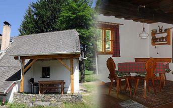 Pouhých 3 500 Kč za víkendový pronájem v krásné roubené chalupě na Šumavě až pro 9 osob!! Prožijte právé české léto na Šumavě!