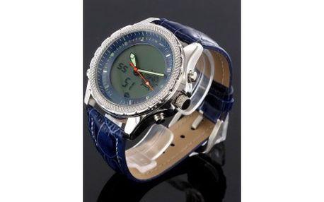 Pánské hodinky - zobrazují čas digitálně a analogově - stopky, alarm, světlo, datum a čas to vše za 499kč místo 1850kč p614