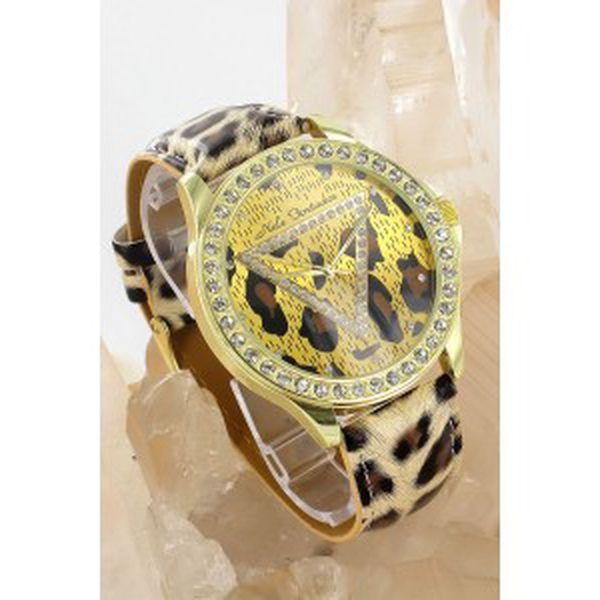 Dámské hodinky Fortados - leopardí provedení model 2012 jen za 499kč a DOPRAVOU ZDARMA m504