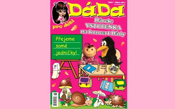 Pouhých 25 Kč za dětský časopis Dáda plný zábavy a čteníčka pro Vaše zlatíčka!