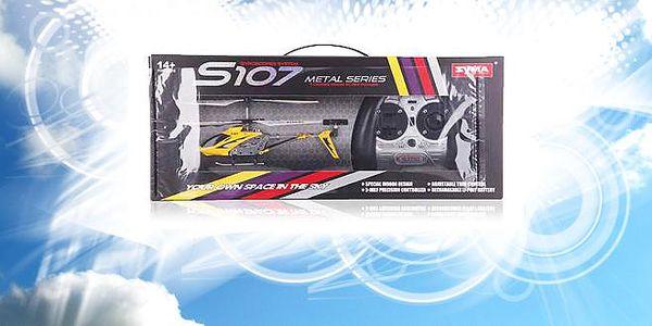 Kdo si hraje nezlobí! Pořiďte si parádní hračku v podobě RC vrtulníku v červené nebo žluté barvě s vestavěným elektronickým gyrem s 50% slevou! Model, který jsme pro Vás vybrali je bezkonkurenční v ovládání a kvalitě zpracování. Jde o kvalitní výrobek společnosti SYMA.