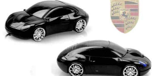 Sleva 69% na USB myš ve tvaru Porsche! Ergonomická černá myš pro práci či zábavu od Slevoviny.cz.