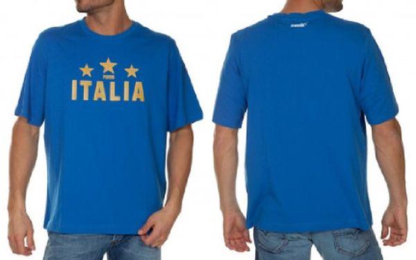Pánské sportovní triko PUMA v modré barvě ze 100% bavlny s potiskem za více než neskutečných 199Kč! velikosti: S-XXL. SPORTOVNÍ A MODERNÍ DESIGN. Nakupujte stylové a pohodlné věci.