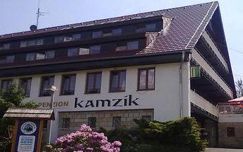 3 denní pobyt pro DVA s POLOPENZÍ a lahví francouzského vína, saunou a tenisovým kurtem v Českém Švýcarsku. 3 dny a 2 noci s polopenzí v úžasném penzionu Kamzík ! V ceně je zahrnuta i sauna, tenisový kurt a bazén ! Malebná příroda pískovcových skal, soutěsek a vodopádů. Užijte si ničím nerušený odpočinek.