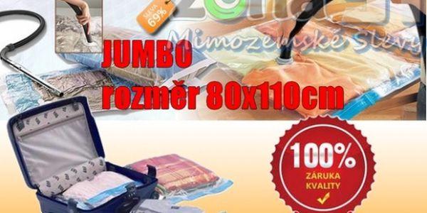 JUMBO - Vacuum Bag 80x110cm, ideální na uskladnění velkého nebo rozměrově většího prádla, dokonalý způsob uskladnění, nyní za neskutečnou cenu JUMBO VAK 1ks za neuvěřitelných 49,-Kč.