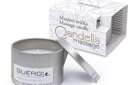 Luxusní sada 2 kusů masážních svíček Guergi se skvělou slevou 50 %! Jste unaveni po celodenním výletu, chcete odložit stres z pracovního dne nebo jen strávit příjemný večer s partnerem? Dopřejte si voňavý dotek francouzské Provance. Na výběr z vůní čokolády, vanilky, jasmínu nebo japonského lotosu. Čistě přírodní složení na bázi rostlinných olejů, včelího vosku a přírodních parfemací nebo esenciálních olejů.