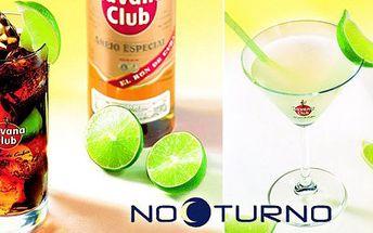 69 Kč za DVA míchané nápoje - Cuba Libre a Daiquri. Možnost vybrat si dva stejné drinky. Skvělá atmosféra a pití baru Nocturno s 50% slevou.