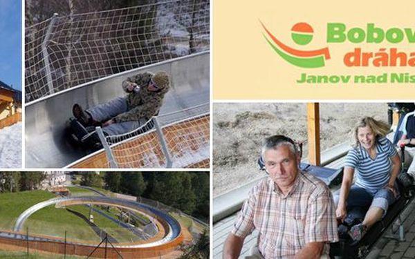 149 Kč za PĚT jízd na bobové dráze v Janově nad Nisou. Oblíbený adrenalin uprostřed Jizerských hor s 50% slevou.