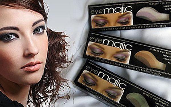 Pouze 49Kč za 2 páry instantních očních stínů Eye Majic dle vlastního výběru! Profesionální líčení za pár vteřin, které vydrží až 12 hodin!