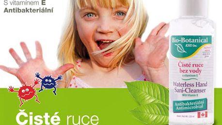 Antibakteriální gel je na špínu jak bič. Bez vody či mýdla vyžene bakterie pryč. Antibakteriální gel vás ochraní vždy a všude. Využíjte tuto nabídku a kupte si 120 ml lahvičku se slevou 45 %.