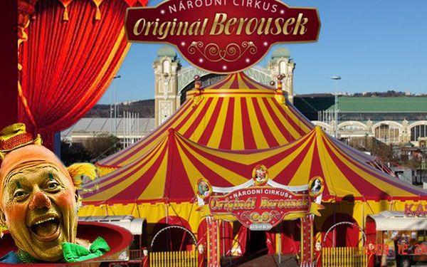 Vstup pro 1 dítě v doprovodu dospělého na představení Národního Cirkusu Originál Berousek v Praze v podzimním turné v roce 2011! Cena 240 Kč z původních 400 Kč.