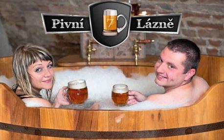 Pivní lázně bohaté na vitamíny pro dva v naprostém soukromí a k tomu litrový nápoj dle výběru ZDARMA!