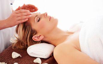140 Kč za masáž hlavy - antistresová + energetická masáž reiki - 30 minut