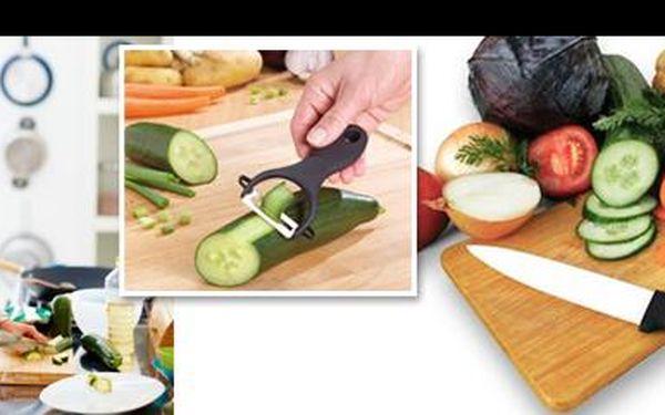 Žij a vař konečně zdravě! Jen 249 Kč za luxusní sadu do tvé kuchyně: Vysoce kvalitní keramický nůž a keramická škrabka, se kterou potraviny neztrácí cenné vitamíny!